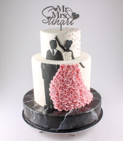 Tort de nunta cu siluete