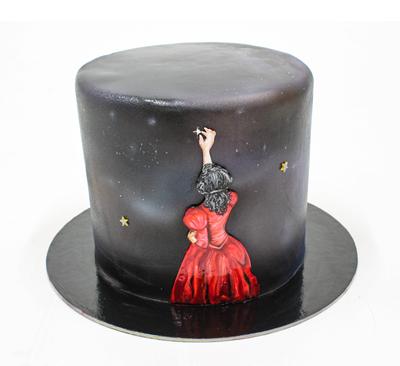 Tort negru cu stele