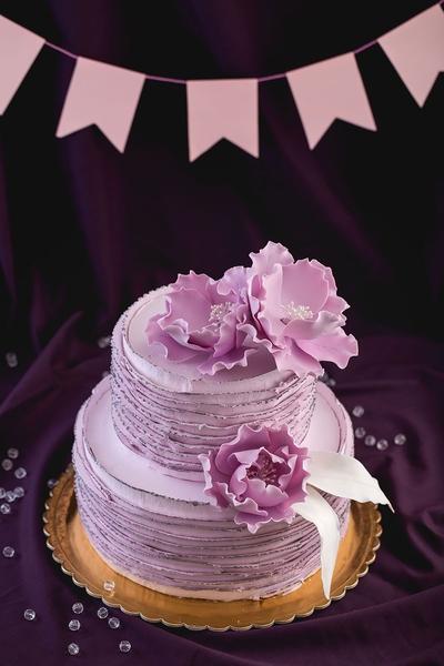 Tort nunta cu flori 2019